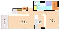サンヴィレッジ3[1階]の間取り