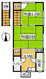 第三花丸荘[2F東号室]の間取り