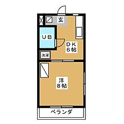 コートフレーベル[4階]の間取り