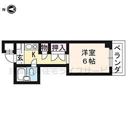 大藤マンション[2-B号室]の間取り