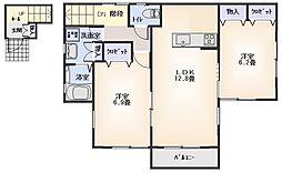 カーサ・ドマーニA2階Fの間取り画像