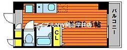 JR山陽本線 高島駅 徒歩13分の賃貸マンション 9階ワンルームの間取り