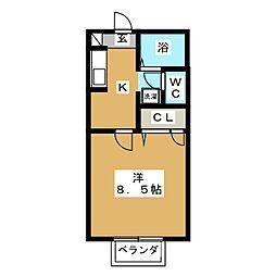 アクシス[2階]の間取り