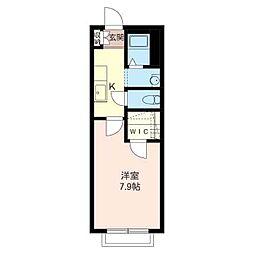 エトワール松島[1階]の間取り