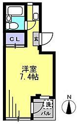第3ハイムトシマ[201kk号室]の間取り