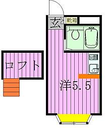 ベルピア・北松戸第8−4[201号室]の間取り