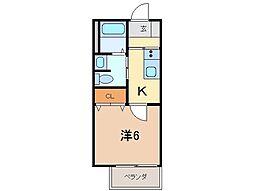 シャーメゾン07[2階]の間取り