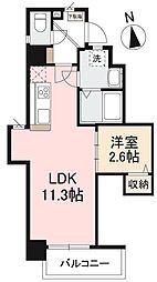 JR高徳線 栗林公園北口駅 徒歩7分の賃貸マンション 1階1LDKの間取り