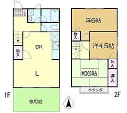 [テラスハウス] 千葉県佐倉市大崎台3丁目 の賃貸【/】の間取り