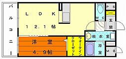 シャルマン土井II[2階]の間取り