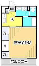 埼玉県朝霞市栄町5丁目の賃貸マンションの間取り