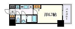 名古屋市営東山線 亀島駅 徒歩3分の賃貸マンション 3階1Kの間取り