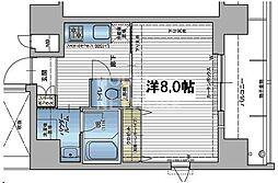 アスヴェル京都四条烏丸[1204号室号室]の間取り