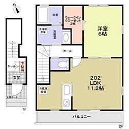 幸区小向西町新築計画B棟[2階]の間取り