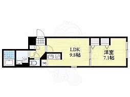 M.G.MARK中目黒 4階1LDKの間取り