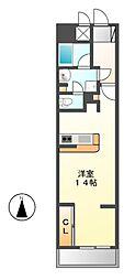 ロイジェント栄[2階]の間取り