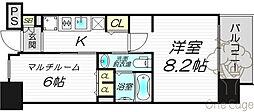 エステムプラザ梅田・中崎町IIIツインマークスサウスレジデンス[3階]の間取り