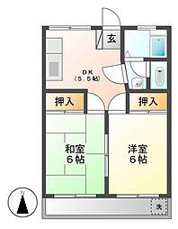 パラシオン喜多山[1階]の間取り