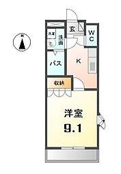 愛知県清須市土田3丁目の賃貸アパートの間取り