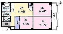 西川マンション[206号室]の間取り