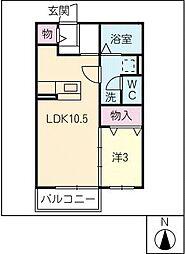 プランドールさくら[2階]の間取り