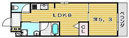 SAKURA6[103a号室]の間取り