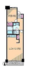 神奈川県横浜市港北区下田町4丁目の賃貸マンションの間取り