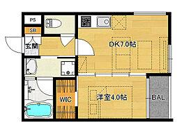 仮)伏見桃山デザイナーズマンション[301号室]の間取り