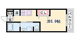 神鉄粟生線 緑が丘駅 徒歩4分の賃貸アパート