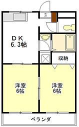 シャトー ドゥ ブリヤン[2階]の間取り