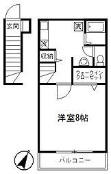 アリビオ[2階]の間取り