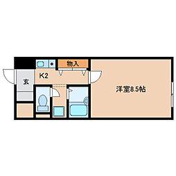 静岡県静岡市葵区駒形通の賃貸マンションの間取り