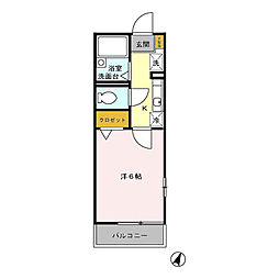 D‐room学遊館[103号室]の間取り