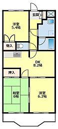 愛知県豊田市美山町1丁目の賃貸マンションの間取り