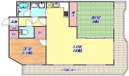 メゾンドカスカード六甲[307号室]の間取り