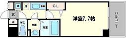 ラグゼ海老江II 6階1Kの間取り
