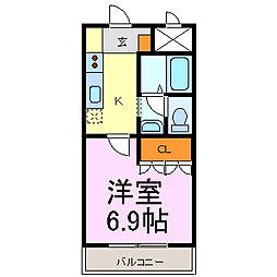 フォレスト東郷[2階]の間取り