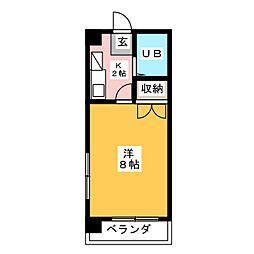 フォンティーヌ内田橋[1階]の間取り