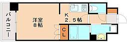 RJRプレシア南福岡[9階]の間取り