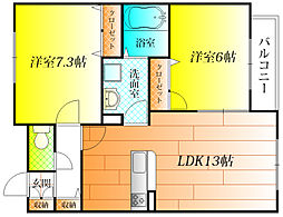 松録荘[2階]の間取り