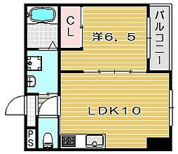 TOMYUフラットII[3階]の間取り