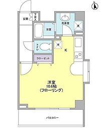 東京都千代田区東神田2丁目の賃貸マンションの間取り