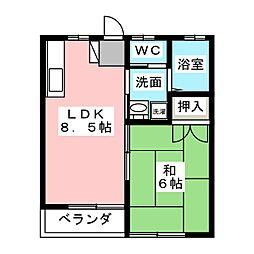 MP7番館[1階]の間取り