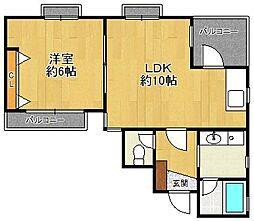 エクリュー北口[2階]の間取り