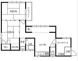 新井邸[2階号室]の間取り