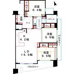 パンテオン西国分寺[4階]の間取り