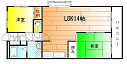 メゾン藤井寺[4階]の間取り