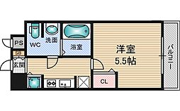 アドバンス新大阪5[11階]の間取り