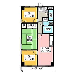 リエス沼津新宿町[8階]の間取り