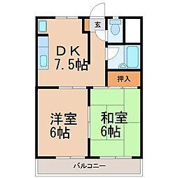 ビラトレンディ[2階]の間取り
